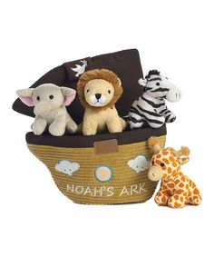 Look at this Noah's Ark Carrier & Plush Toy Set on #zulily today!