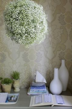 "Soft & Subtle: DIY Baby's Breath ""Chandelier"" — Me Oh My!"