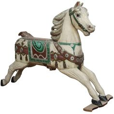 1stdibs.com | Old Carousel Horse in Wood from Germany