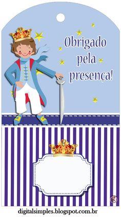 Kit para festa de Aniversário Pequeno Príncipe, é só salvar e imprimir, grátis.
