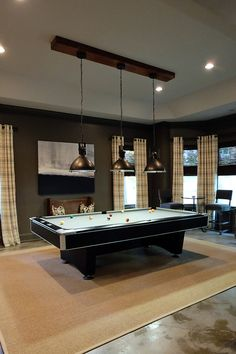 like the light above table billiard room a vintage industrial basement remodel camille deann outrageous interiors