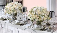Our Posit Tealights add some sparkle to this table by Monique Lhuillier on @BRIDES
