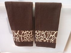 Giraffe Animal Print Kitchen Towel by MyFancyTowels on Etsy, $8.99