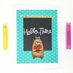 """Sweet Stamp Shop's """"Bear Folk Love"""" adds the cutest touch to any card for any occasion!"""