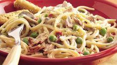Tuna—instead of the traditional turkey—stars in a tasty twist on tetrazzini.