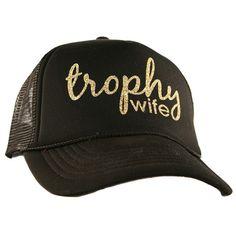 Katydid Trophy Wife Wholesale Glitter Trucker Hats