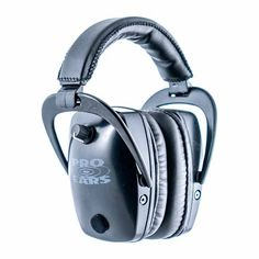 Pro Ears - Pro Tac Slim Gold - Military Grade Hearing Protection and Amplification - NRR 28 - Ear Muffs - Lithium Batteries – Black Ear Protection, Hearing Protection, Earmuffs, Audiophile, Headset, Headphones, Military, Slim, Ears