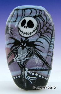 """JACK OF ALL TRADES"" ByKAYO SKELETON Handmade Lampwork Art Glass Focal Bead SRA 