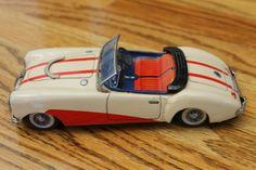 """VINTAGE 50's/60's BANDAI MGA1600 MG 8"""" ANTIQUE TIN FRICTION TOY CAR MARKII"""