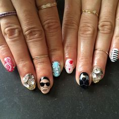 Musical inspiration: A Nails By Mei fingernail design theme for a Jay Z and Beyonce concert
