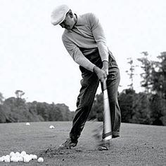 Ben Hogan - a pure swing. Incredible that he came back after a car accident that nearly disabled him.