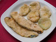 Maden suyuna batırılarak hazırlanan, lezzetli çıtır çıtır patlıcan ve kabak kızartmasını çok beğeneceksiniz.