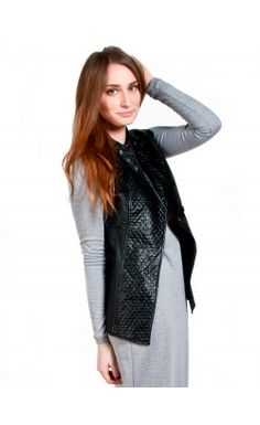 The Vixon Vest Get your vixon on with our motor vegan black vest. #fashion  #mypinkmartini #girl #vest #vixon #style