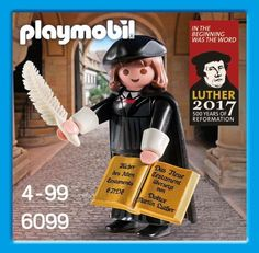 PLAYMOBIL 2015 Martin Luther 6099 500 Year Anniversary Lutheran Reformation  #PLAYMOBIL