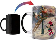 Disney Mugs, Disney Mickey Mouse, Minnie Mouse, Thomas Kinkade Disney, Christmas Material, Dancing In The Moonlight, Disney Colors, Light Images, Victorian Christmas