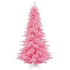 Vickerman K163791 12 ft. x 74 in. Pink Fir Christmas Tree with 1650 Pink 4631 Tips Dura Light, As Shown