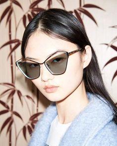 fa14833e28b He Cong Models McQ Fall Winter 2018.19 Eyewear Collection