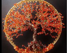 Cherry blossom Wire Tree Sculpture / Windchime / Suncatcher