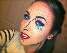 Cool Halloween makeup idea..