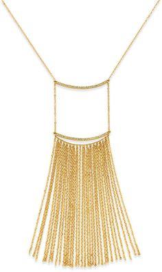 Fringe is In!  #fringe #goldfringe #accessores #necklace
