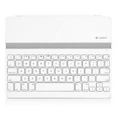 Logitech ultra-thin keyboard cover for iPad.