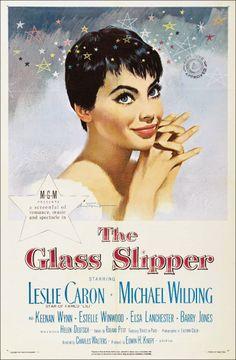 The Glass Slipper (1955) starring Leslie Caron & Michael Wilding — illustration by Jon Whitcomb