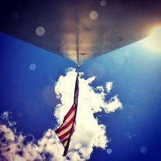 """I pledge allegiance to the flag..."" : We love our American Flag from this angle!"
