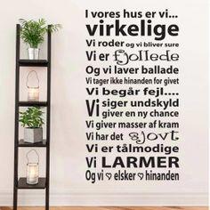 Wallstickers → DK's bedste udvalg - Køb din wallsticker her → Best Memes, Wise Words, Sweet Home, Wisdom, Writing, House Styles, Inspiration, Design, Home Decor