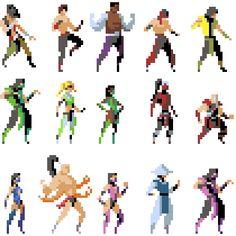 Mortal Kombat Pixel Artist: Hendry Roesly Source: hendryroeslyart.tumblr.com