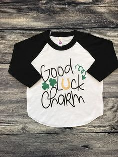 A personal favorite from my Etsy shop https://www.etsy.com/listing/499144910/kids-st-patricks-day-shirt-raglan-tee