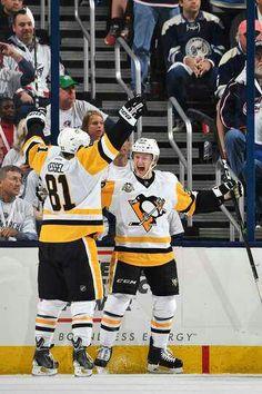 db67cc7d1a1 Jake Guentzel Pittsburgh Penguins Fanatics Authentic Autographed x Game  Three Hat Trick Celebration Photograph