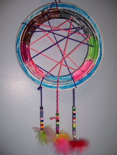 Dreamcatcher cut out center of sturdy paper plate and punch holes around perimeter; students & Creativity Challenge: Paper Plate Dreamcatchers | The Studio | Get ...