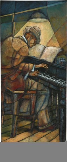 Piano Man ~ Sidney Carter ~ Sidney Carter has been a professional artist for the past 20 years.  The youngest of nine brothers and sisters, two of Sidney's brothers who are also artists led the way for creative development by teaching him at a young age.