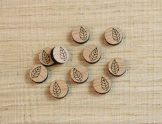 Little Leaf Earring Blanks Wooden Craft Supplies Jewellery