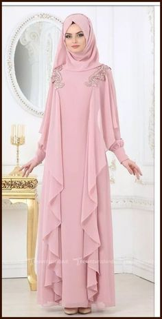 Renew your wardrobe with these, new abaya style which will enhance your personality. We have come with 50 different abaya style 2020 that will make you Abaya Fashion, Modest Fashion, Fashion Dresses, Fashion Muslimah, Abaya Designs, New Abaya Style, Abaya Mode, Hijab Gown, Moslem Fashion
