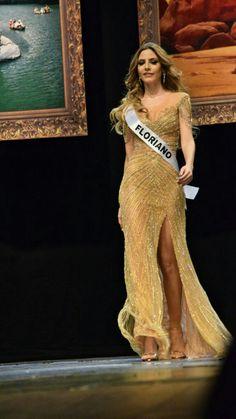 Lara Lobo, Miss Piauí 2016 usando vestido do Atelier Júnior Brandão que foi escolhido o melhor traje de gala da noite