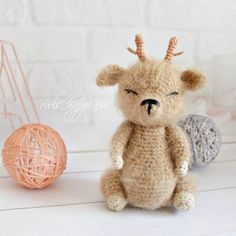 Amiguroom Toys   Free amigurumi patterns Crochet Deer, Crochet Mouse, Crochet Baby, Free Crochet, Amigurumi Doll Pattern, Step By Step Crochet, Deer Pattern, How To Make Toys, Baby Deer