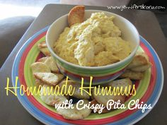 Homemade Hummus and Pita Chips #15minutesuppers - Jen's Journey
