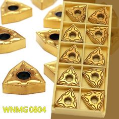 Carbide Inserts Gold Metalworking Equipment Set Toolholding 10pcs Portable