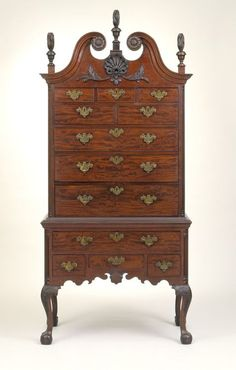 1770 American (Pennsylvania) High chest at the Los Angeles County Museum of Art, Los Angeles