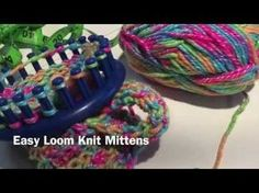 Easy Loom Knit Mittens - YouTube