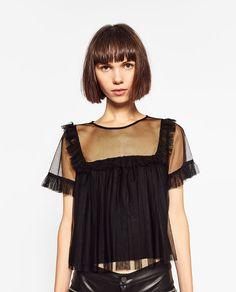 Imagem 2 de BLUSA TULE FOLHO da Zara