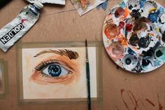 Great tutorial on how to paint eyes using acrylic