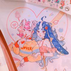 itsa me, vicki ( Posca Marker, Marker Art, Cute Art Styles, Cartoon Art Styles, Cool Art Drawings, Art Sketches, Posca Art, Arte Sketchbook, Kawaii Art