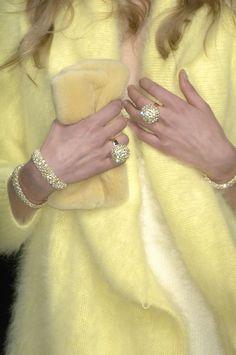 Blumarine...this elegant cream yellow style just fascinated me