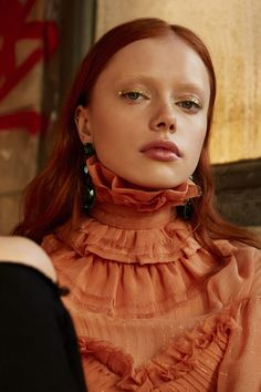 """polykowiak: """" midnight-charm: """"Terry She photographed by Elena Bofill for Vogue Spain """" a beauty """" Bleached Eyebrows, Red Hair Model, Orange Makeup, Redhead Models, Fashion Photography Inspiration, Dye My Hair, Tips Belleza, Beauty Editorial, Pretty People"""