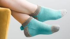 Learn how to knit pom pom socks with knitter and author Wendy Bernard of KnitAndTonic. Free knitting pattern included for subscribers. - Creativebug