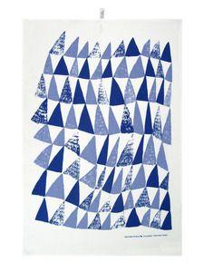 Nettbutikk...Image of Kuusikko Blue Kitchen Towel / Keittiöpyyhe