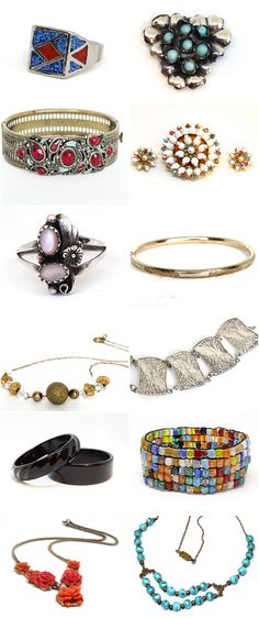 Coupon Pin10 - Here are a few items from my Vintage Jewelry shop on etsy.