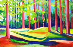 Colorful Original Landscape Painting by ChristinaBarbachano, $420.00